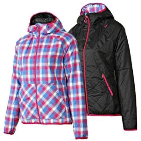 adidas Jackets & Blazers - Adidas Plaid/Black Reversible Jacket